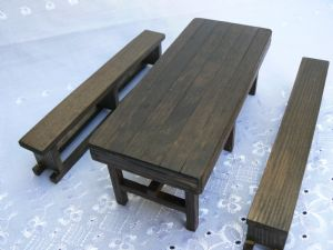 Handmade Tudor Table and Benches