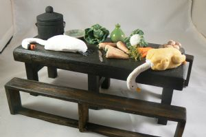 Tudor Table with food