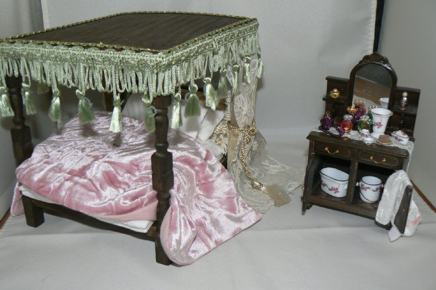 Handmade dressed tudor bed and dressing table for Bed and dressing table