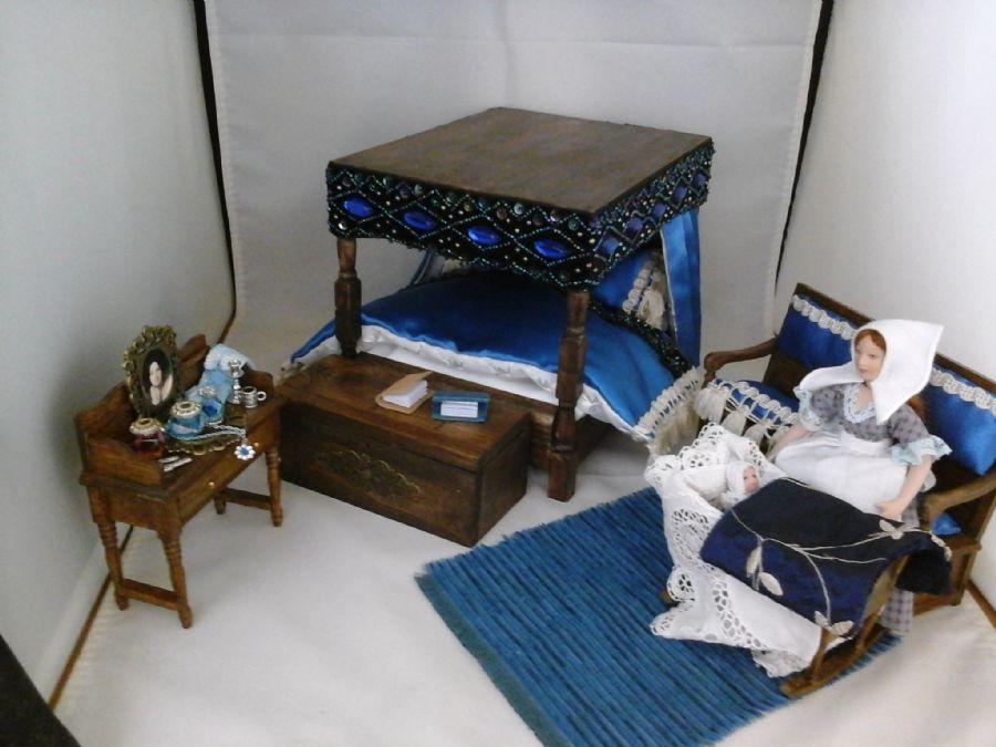 Handmade Tudor Bed With Dressing Table Settle Etc