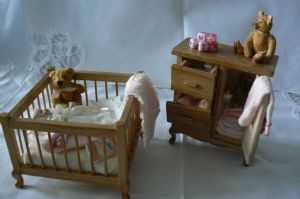 Baby Girl Nursery - Wood / Pink